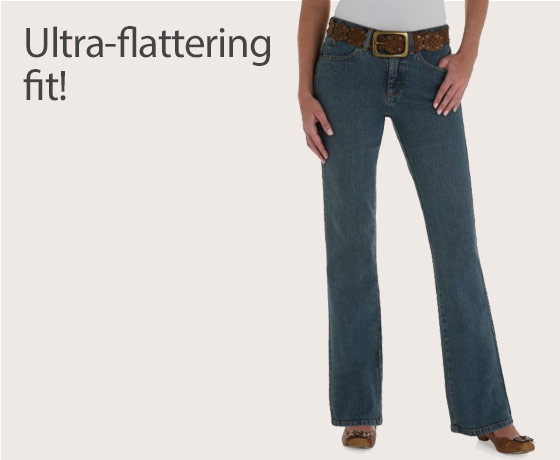 Women at Wrangler® Aura Instantly Slimming™ Jean