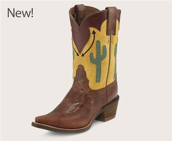 Nocona™ Ladies' Snip Toe Phoenix Brown Boots†