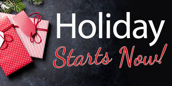 Holiday Starts Now! 25% Off or 30% Off Orders over $119*