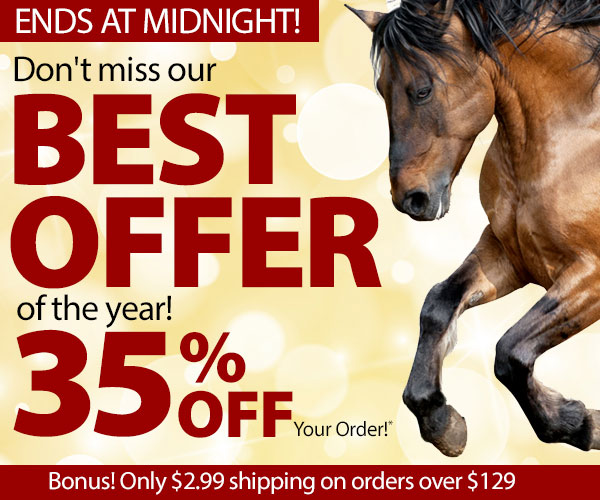 Our Best Offer ENDS AT MIDNIGHT! Don't miss it! 35% Off + $2.99 Shipping over $129*