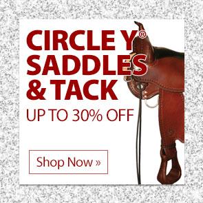 Circle Y® Saddles & Tack up to 30% Off