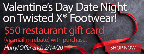 Valentine's Day Date Night on Twisted X® Footwear!