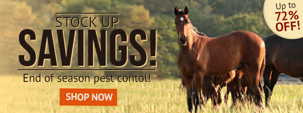 Stock Up Savings! End of season pest contol up to 72% off!