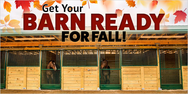 Get Your Barn Ready for Fall! 20% Off or 30% Off Orders over $149*