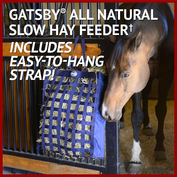 Gatsby® All Natural Slow Hay Feeder† - Includes easy-to-hang strap!