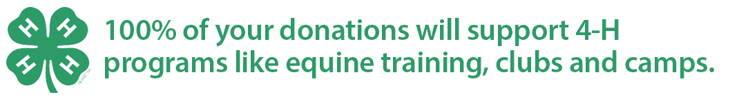100% of donations made to State Line Tack support 4-H programs like equine training, clubs, and camps.