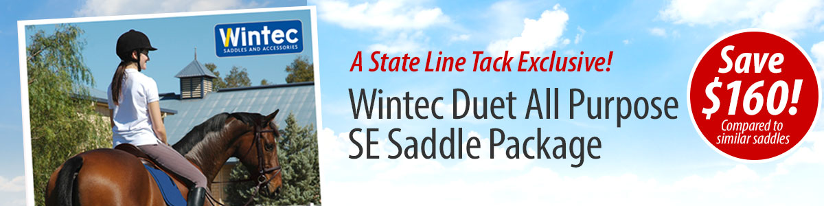 A State Line Tack Exclusive! - Wintec Duet All Purpose SE Saddle Package