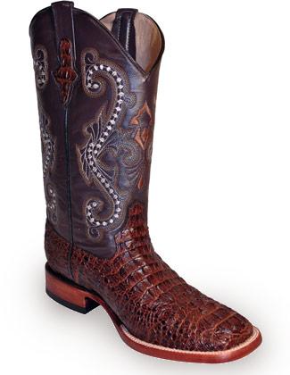Ferrini Mens Print Caiman Croc Boots