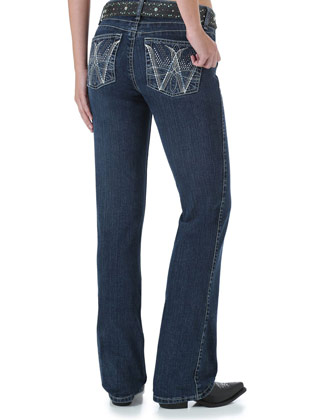 Wrangler Q Baby Booty Up Medium Wash Jeans