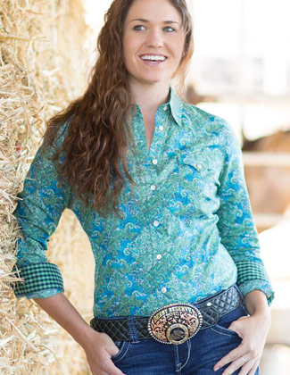 Noble Outfitters Ladies Countryside Print Shirt