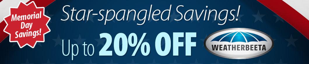 Star-spangled Savings! Up to 20% off WeatherBeeta®