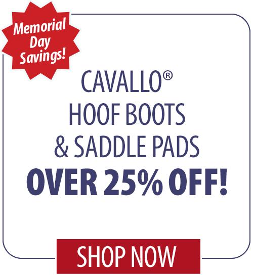 15% off Cavallo� Hoof Boots & Saddle Pads
