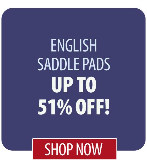 Up to 51% off English Saddle Pads