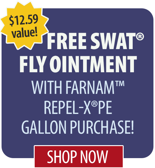Free SWAT� Fly Ointment with Farnam� Repel-X�pe gallon purchase!