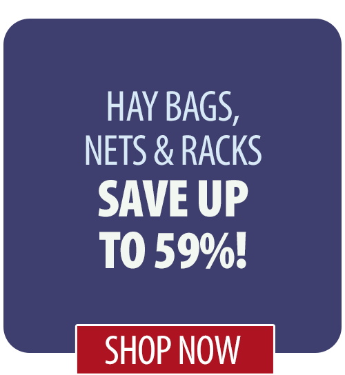 Save up to 59% on Hay Bags, Nets & Racks