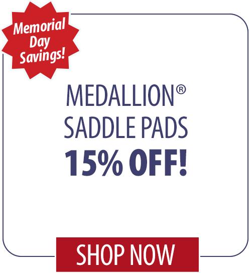 15% off Medallion� Saddle Pads