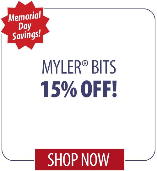 15% off Myler� Bits