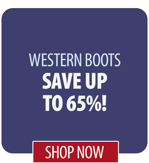 Save up to 65% on Western Boots