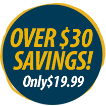 Over $38 savings! Only $14.99!