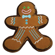 PrideBites® Plush Christmas Gingerbread Dog Toy