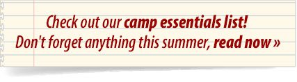 Check out our camp essentials list!