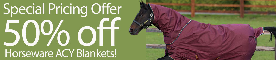 Special Pricing Offer 50% off Horseware ACY Blankets!