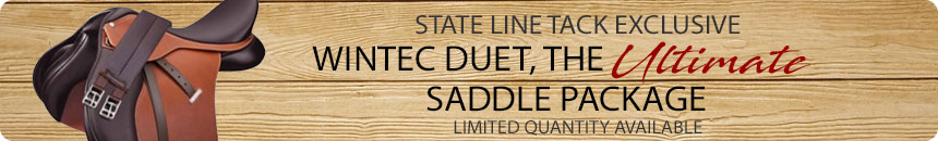 Exclusive State Line Tack Saddle Package, the Wintec Duet!