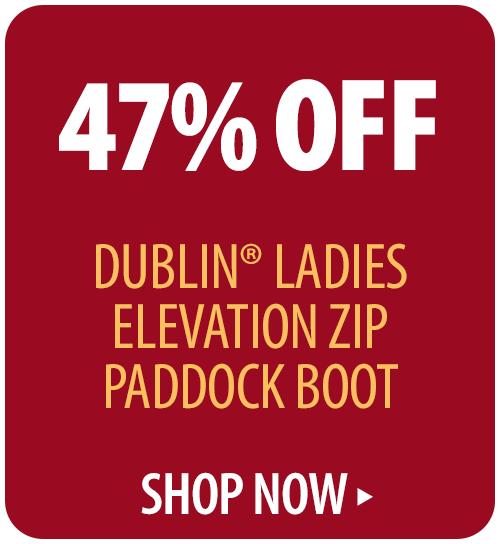 47% off Dublin� Ladies Elevation Zip Paddock Boot