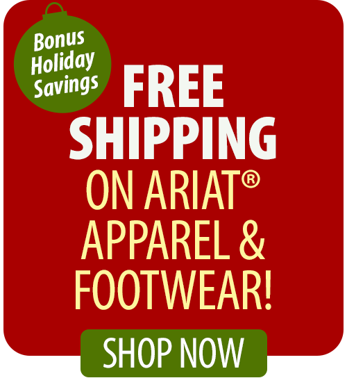 Save over 20% on Ariat® Apparel & Footwear!