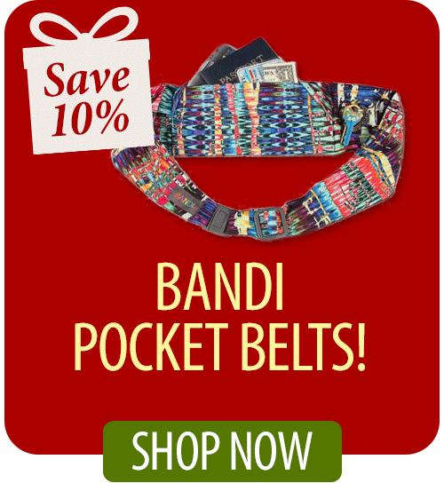 Save 10% on Bandi Pocket Belts!