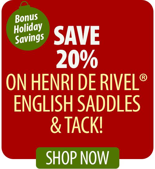 Save over 20% on Henri Di Rivel® English Saddles & Tack!