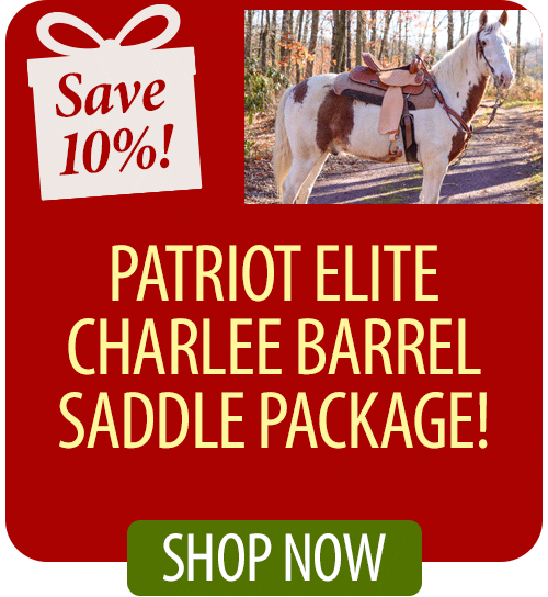 Save 10% on Patriot Elite Charlee Barrel Saddle Package!