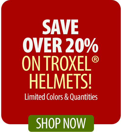 Save over 20% on Troxel® Helmets!