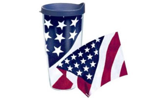 Tervis Tumbler 24 oz American Flag Colossal Wrap