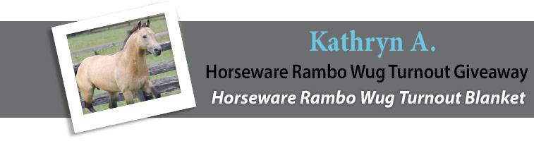 Statelinetack.com's Horseware Rambo Wug Turnout Giveaway Winner