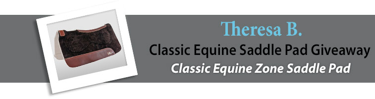 Statelinetack.com's Classic Equine Saddle Pad Giveaway Winner