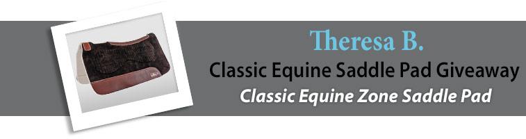 Statelinetack.com's Classic Equine Saddle Pad Giveaway Winner
