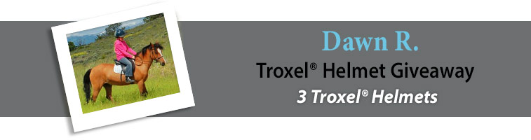 Statelinetack.com's Troxel® Helmet Giveaway Winner